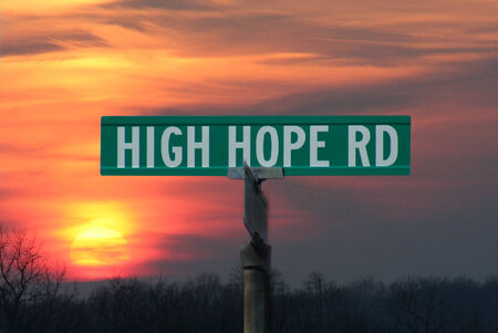 High Hope Sign Stock fotó