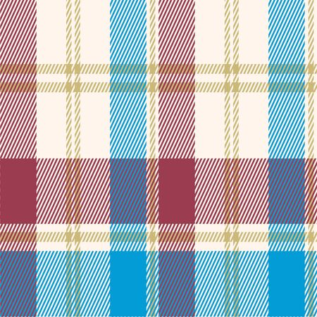 Seamless pattern plaid red and blue.Square grid pattern background for fabric or wallpaper.surface texture scottish.