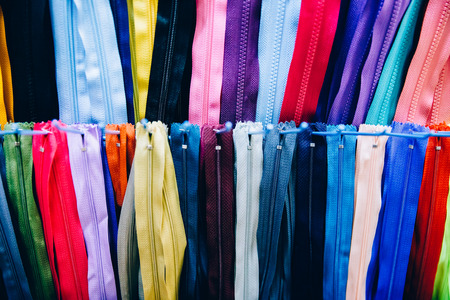 Locks for clothes of different colors in the storefront