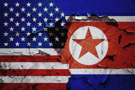 background USA vs North Korea graphic concept