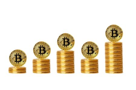 Bitcoin. Bitcoin on isolated background. concept chart Stock Photo
