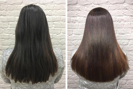 Chore, ostrzyżone i zdrowe włosy. Włosy przed i po zabiegu.