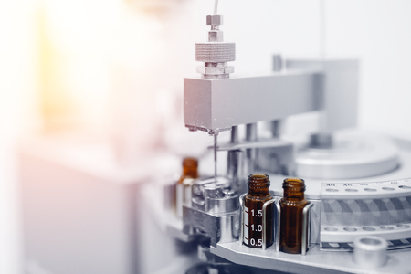 Pharmaceutical production line. Vaccine production from epidemic, cancer, disease, virus