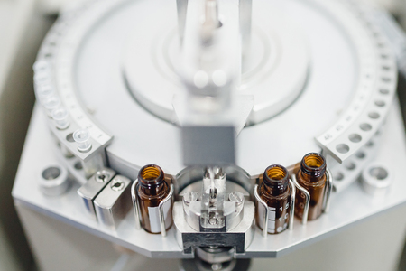 Pharmaceutical bottle medicine production line conveyer. Vaccine production