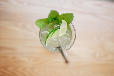 Cold mojito with fresh mint and ice Stock Photo - 107414040
