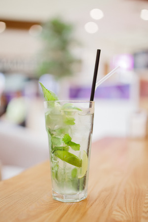 Cold mojito with fresh mint and ice Stock Photo - 107413751