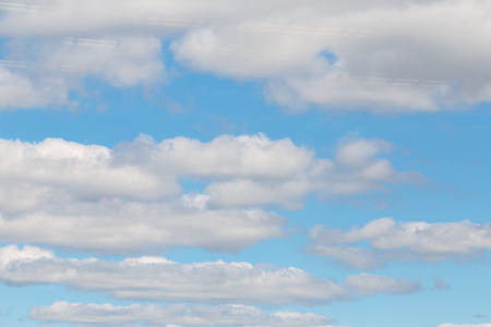 Closeup Blue sky with white clouds background Stock Photo