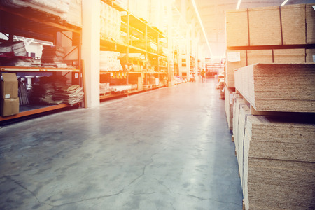 Logistics warehouse image. high contrast and monochrome color tone.