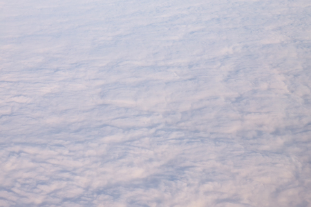 White backround snow clouds from bird eye view in sky