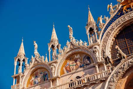 Basilica di San Marco in Venice, Italy against bright blue sky Reklamní fotografie