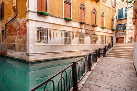 Old buildings Venice, Italy. Facilities in water after flood. Concept tourism. Reklamní fotografie