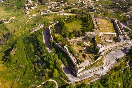 Castello di lombardia in Enna Sicily, Italy. Aerial photo Reklamní fotografie