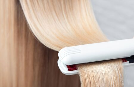 Hair iron straightening beauty treatment care salon spa