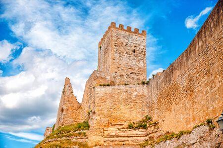 Castello di lombardia in Enna Sicily, Italy