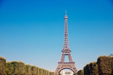 Eiffel Tower in Paris, France. Concept travel