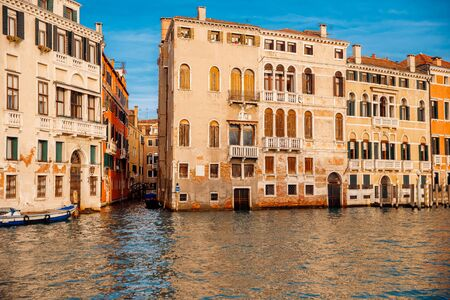 Old buildings Venice, Italy. Facilities in water after flood. Concept tourism. 写真素材