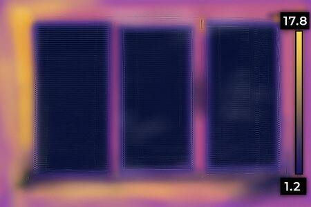 Master analysis thermal image of heat leak through upvc window.