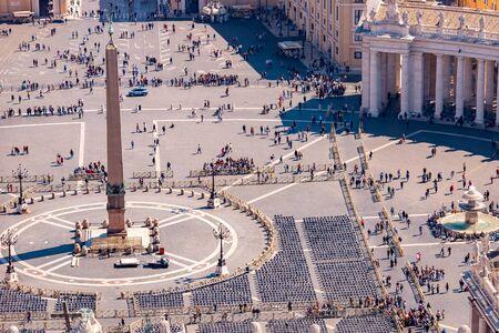Vista panoramica della vecchia città aerea Roma da Piazza San Pietro in Vaticano. Archivio Fotografico