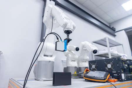 Automatic manipulator arm robot for programming. Modern industrial technology mechanical hand 写真素材