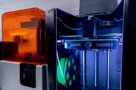3D printer with nylon and plastic printing, model plate