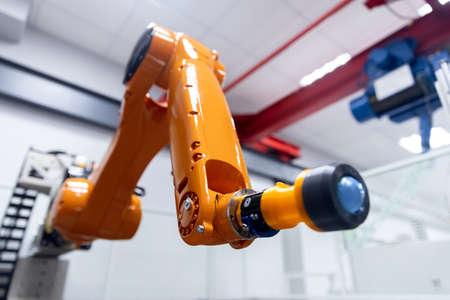 Automatic manipulator arm robot for programming. Modern industrial technology mechanical hand 版權商用圖片