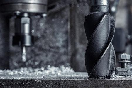 CNC drilling lathe machine Industrial cutter metal in steel factory 版權商用圖片