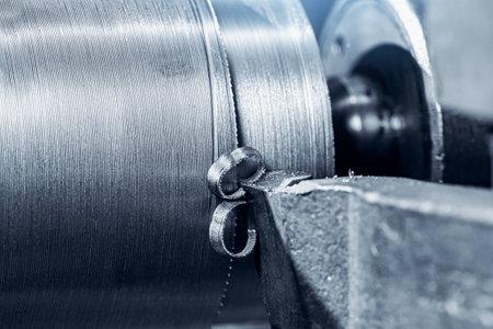 Industry machine iron tools. CNC turning cutting metal is operation. 版權商用圖片