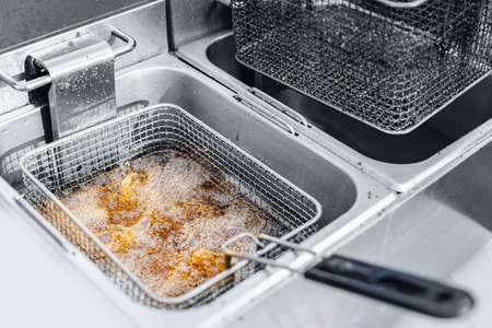Process Fryer for potato chips with boiling oil fast food restaurant equipment