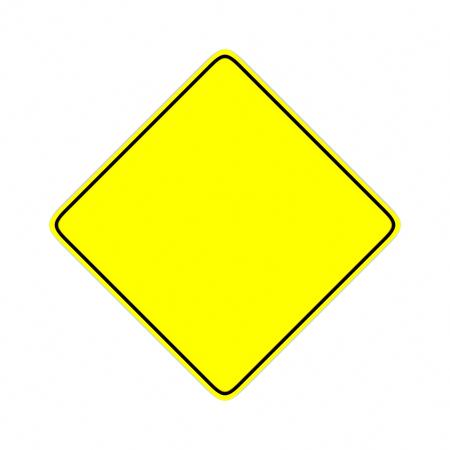 yellow road sign 3D rendering