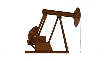 Oil pump energy industrial machine on white background for design. 3D rendering Stock Photo