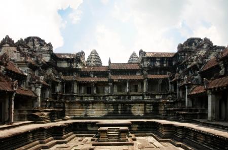 Angor Castle inside, Cambodia Standard-Bild