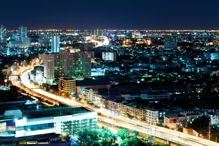 Night City at Bangkok with Speed Light Standard-Bild