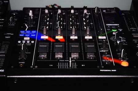 DJ Turntable and Sound Mixer Set with Working Light Standard-Bild