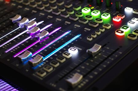 audio equipment: Sound Mixer Board in Front View
