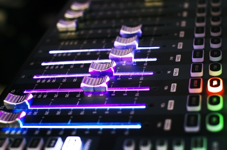 Sound Mixer Board in Side View
