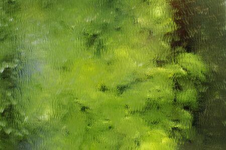 Water Falls on Mirror Reflect Plants
