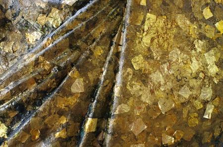 Golden Pattern on Statue photo
