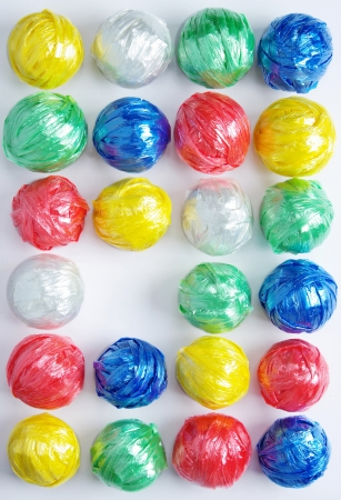 Colorful Ball by Plastic Rope with Creative Recycle Concept