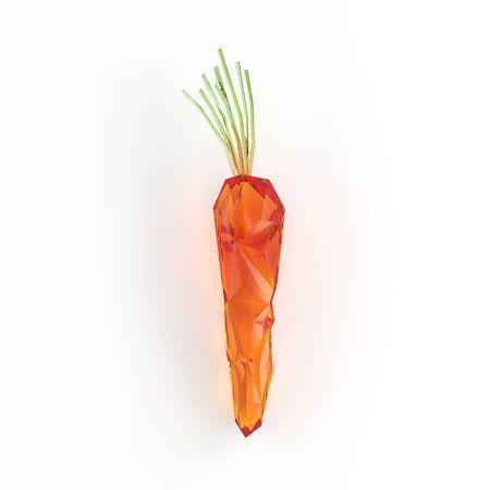 rendering: Geometric carrot rendering