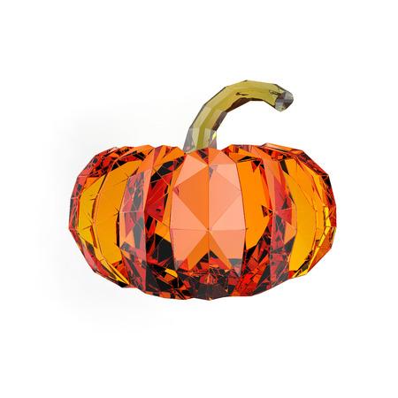 rendering: Geometric pumpkin rendering Stock Photo