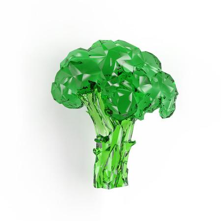 rendering: Geometric broccoli rendering Stock Photo