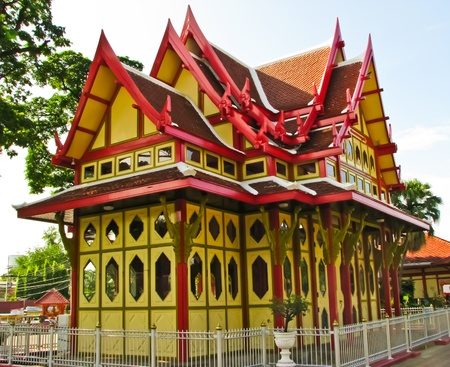 hua hin: pavillion at Hua Hin train station