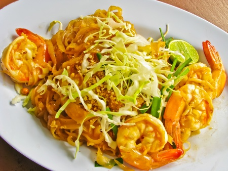 Pad Thai,fried noodle with shrimp and vegetables