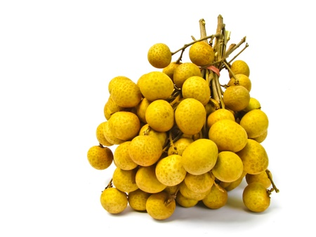 longan pile with  white background