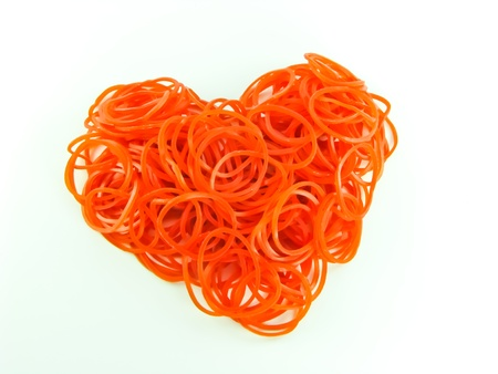 Heart shape from rubber Stock Photo