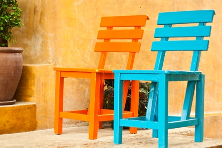 two chairs: two chairs in the garden