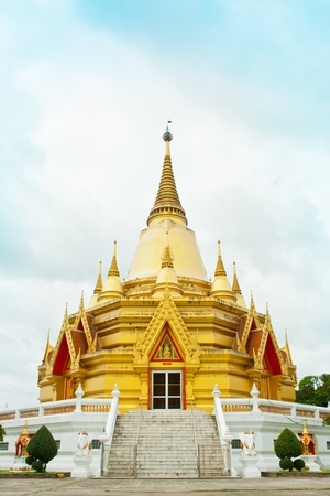 ratchaburi: Golden Church at Wang ma now Temple at Ratchaburi,Thailand