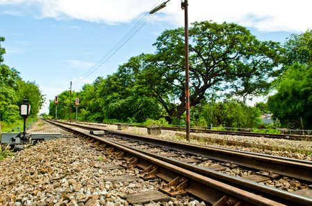 railway in countryside of Thailand  photo