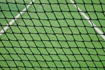 Net at old cement tennis cour