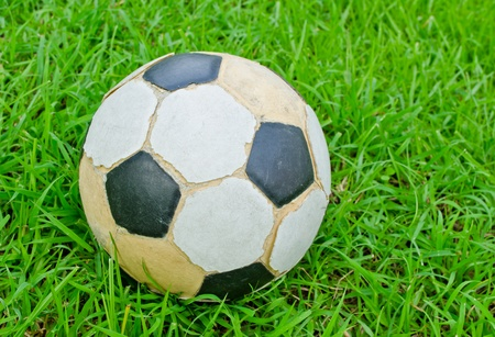 old football green grass  Stock Photo